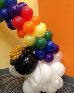 St Patricks Day Balloon Column | DC | Balloon Zoom