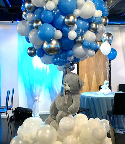 Floating Bear Balloon Installation