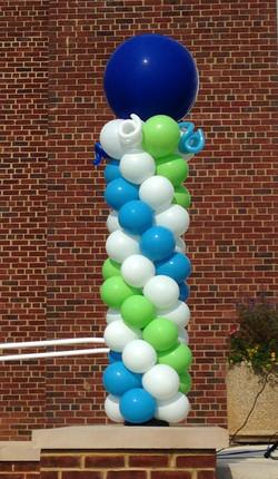 Outdoor Balloon Columns | Washington DC | Balloon Zoom