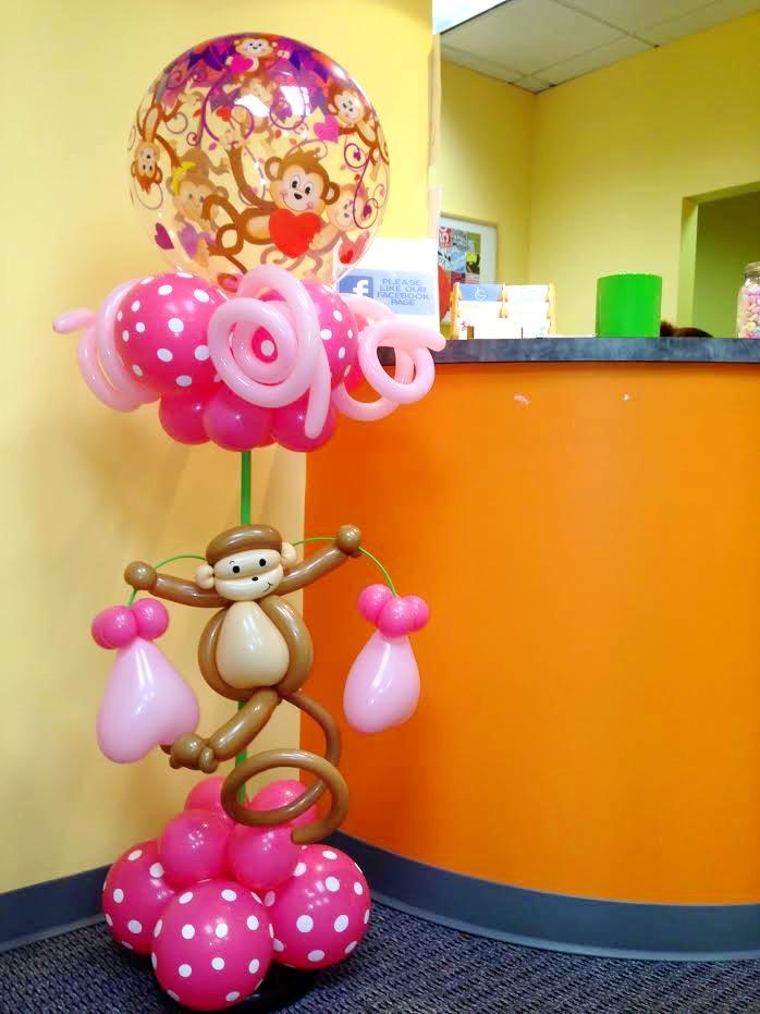 Monkey Balloon Column | DC | Balloon Zoom