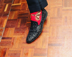 Dancing the night away in a pair of #red