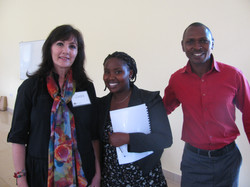Judy with Rwandan Pastor & Wife