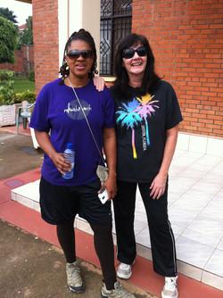 Deanna Nash & Judy Weston in Rwanda