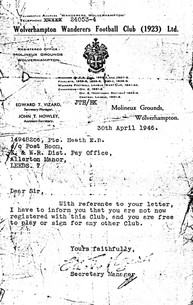 1946 Letter from Wolves