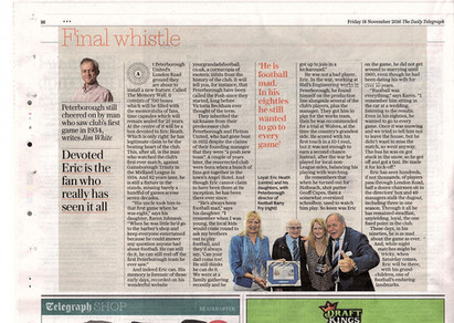 Daily Telegraph feature Nov 2016