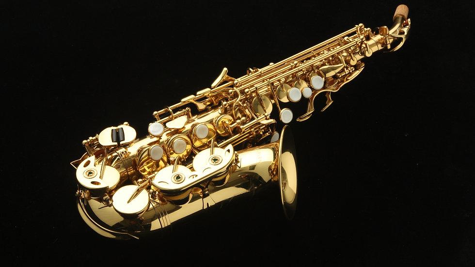 Saxo soprano Curvo Harlem SSC-310 Nuevo! Con estuche ligero