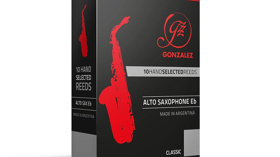 """Caja de 10 Cañas González """"Classic"""" para saxo alto"""