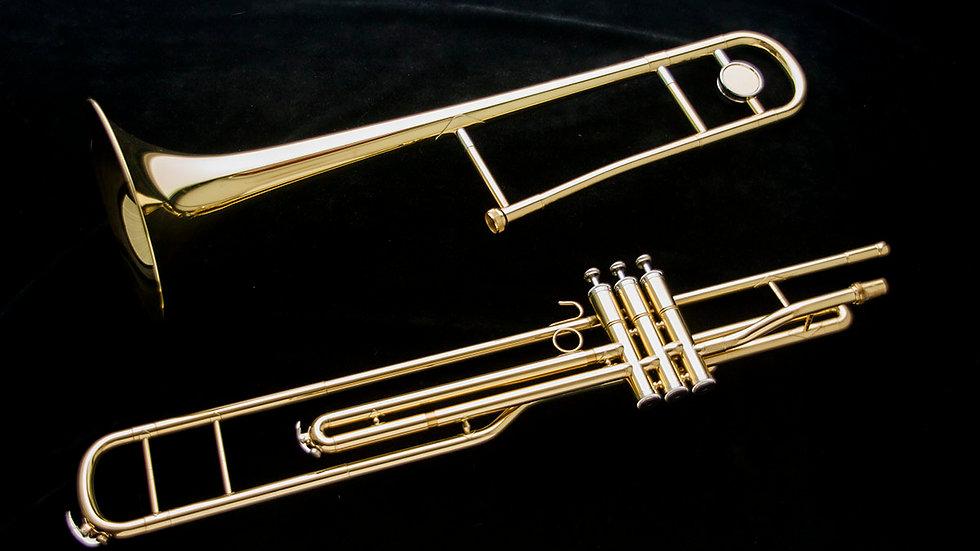 Trombón de pistones Harlem TBP-900 Nuevo! Estuche ligero