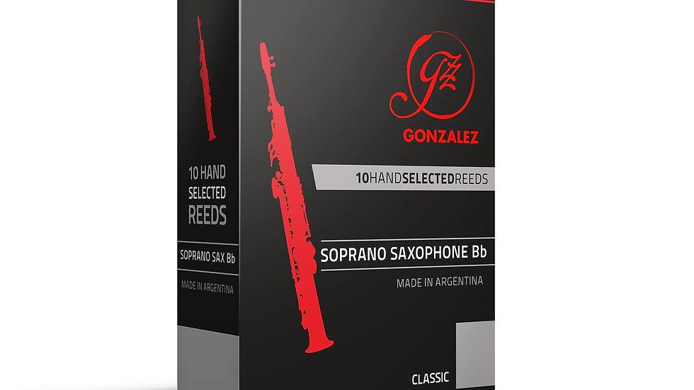 """Caja de 10 Cañas González """"Classic"""" para saxo soprano"""
