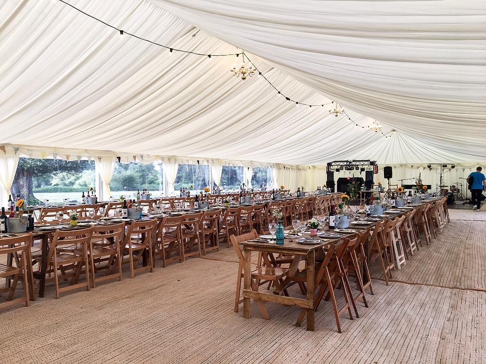 marquee wedding bar shropshire, mobile par powys