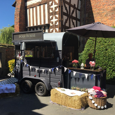 A Sunny bridal fayre at the Albright Hussey Manor Hotel, Shropshire