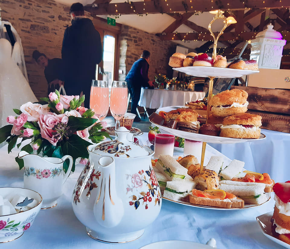 Shropshire Afternoon tea wedding, bridal afternoon tea
