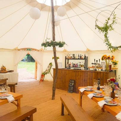 Time & Suzie's Round Tent Shropshire Wedding