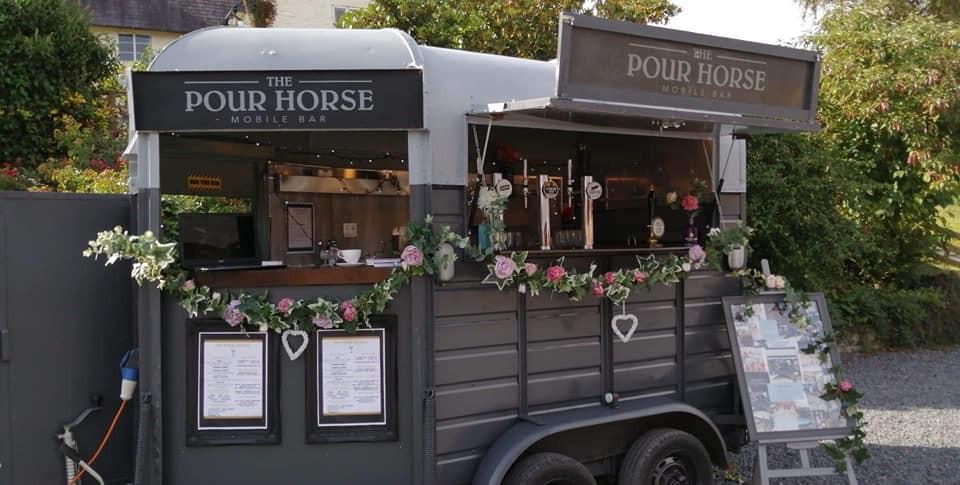 Converted Horse Box Bar, rustic barn wedding