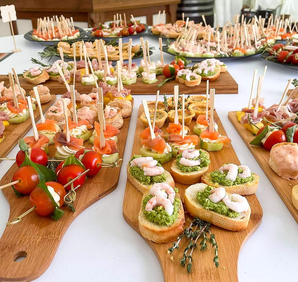 Canape service, Canapes Shrewsbury, nibbles, drinks reception, wedding planning Shrewsbury