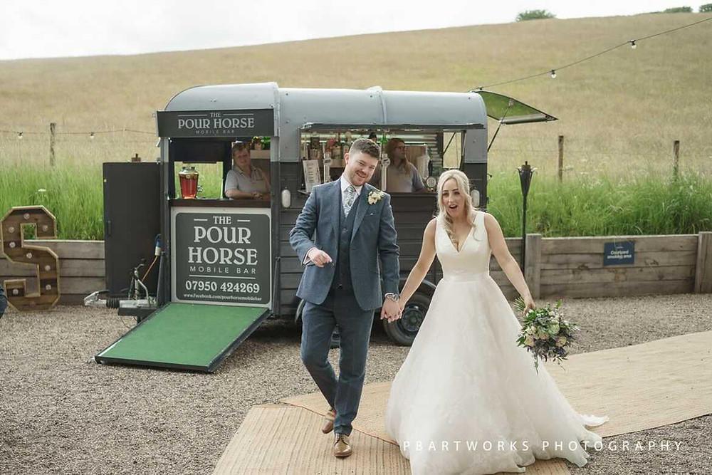 horsebox bar at the bridal barns, The Pour horse Mobile Bar