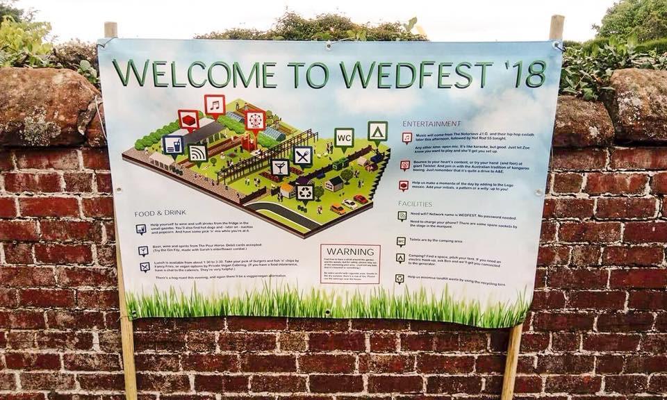 Festival wedding ideas, shropshire festival wedding