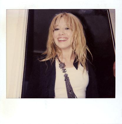 "Hilary Duff – ""So Yesterday"" music video wardrobe fitting Polaroid JPG NFT"