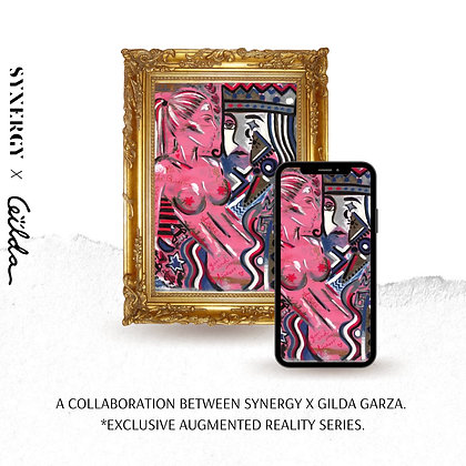 Kiss Me, 2020 Augmented Reality by Gilda Garza x Synergy Studio