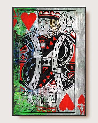 King of Hearts Red by Gilda Garza