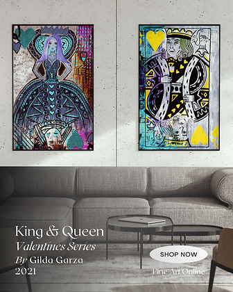 King and Queen Valentine's Series by Gilda Garza