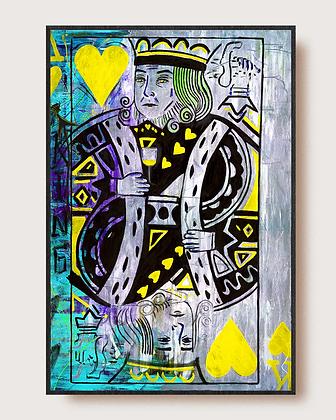 King of Hearts  (King Cavalli)  Yellow by Gilda Garza