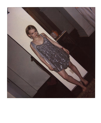 """Hilary Duff – """"Our Lips Are Sealed"""" music video wardrobe fitting Polaroid  NFT"""