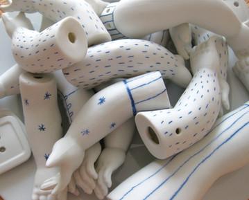 Installation de porcelaine