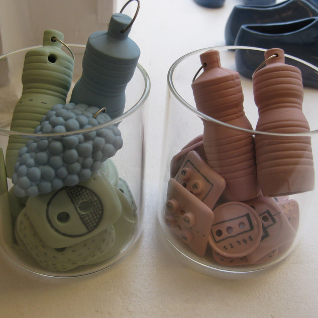 Boutons en porcelaine