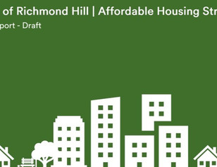 The Richmond Hill Affordable Housing Strategy is here!