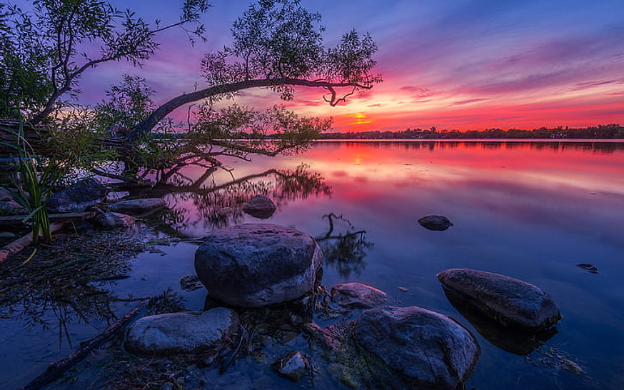 wilcox-lake-ontario-canada-red-sunset-du