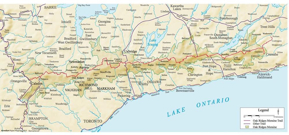 300km trail across the Oak Ridges Moraine