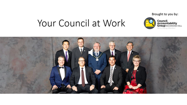 Your Richmond Hill Council at Work