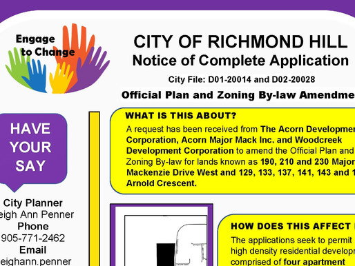 Application for 4 high-rise buildings at Major Mac and Arnold