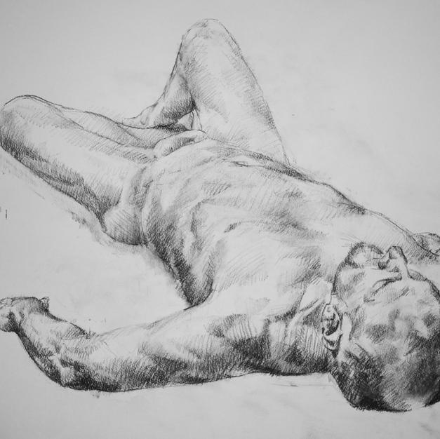 Foreshortened Nude