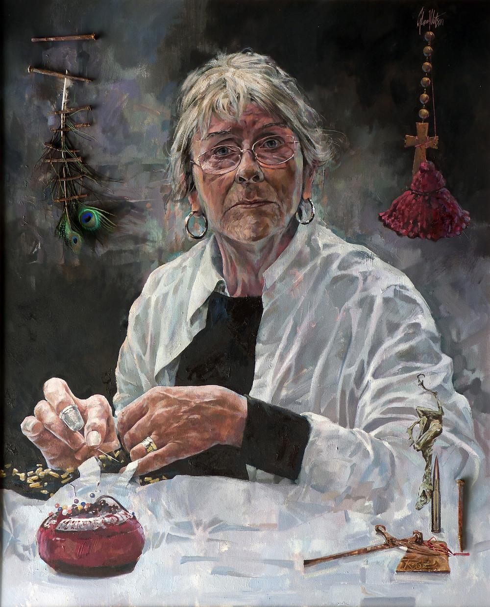 portrait of Rozanne Hawksley