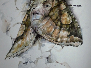 The Surveillers and the Surveilled; Moth Watercolours