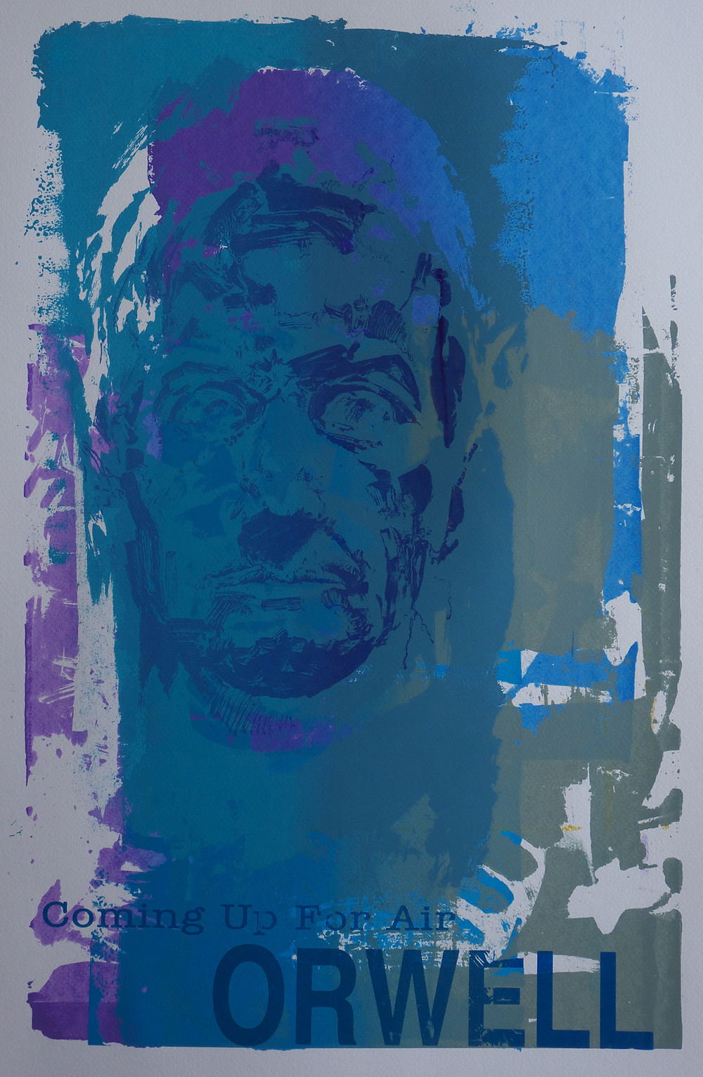 Coming Up for Air: six ink layer screenprint.Ed.1/1  size:A1