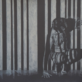Barcode Turn Away charcoal pencil and acrylic on grey paper 43x59cm.jpg