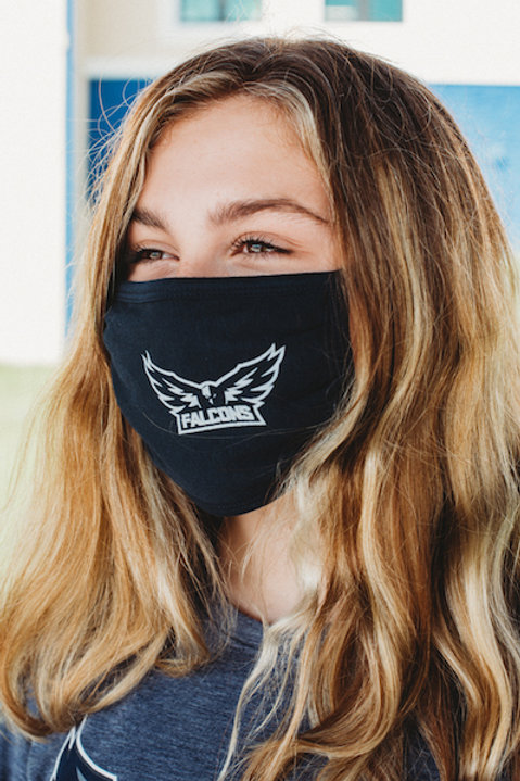 Mask - Adult Solid Navy Single