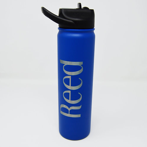 SIC 27oz Water Bottle Navy with Logo and Name