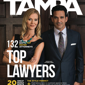 """Dale Sisco named """"Top Lawyer""""  for Product Liability Defense by Tampa Magazine"""