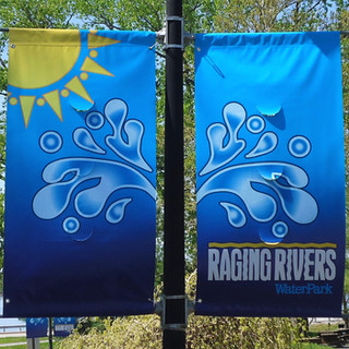 Raging Rivers street banners