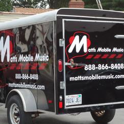 Matt's Mobile Music trailer