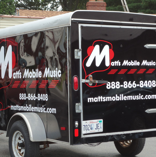 Matt's Mobile Music trailer