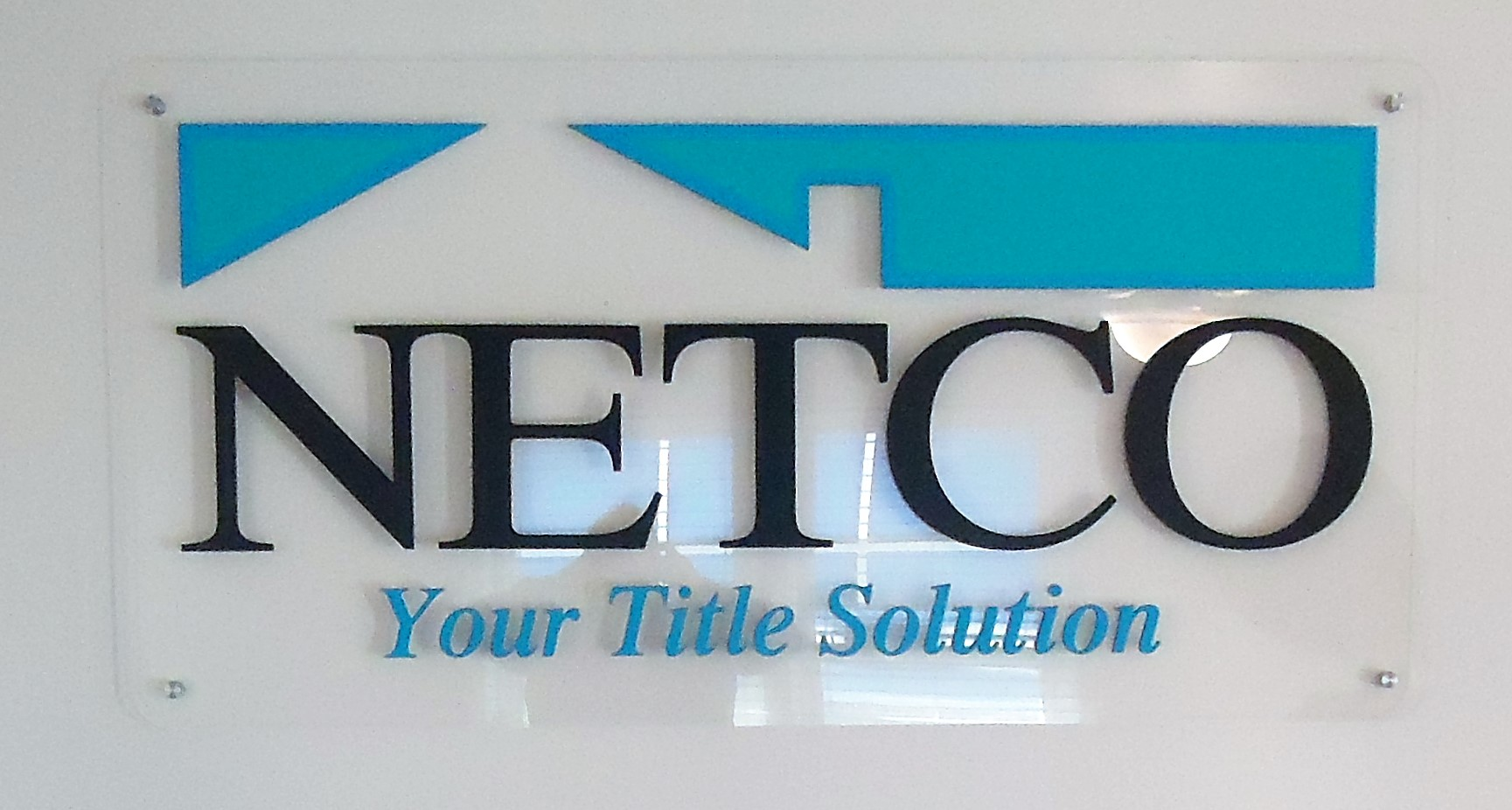 NETCO stand off sign