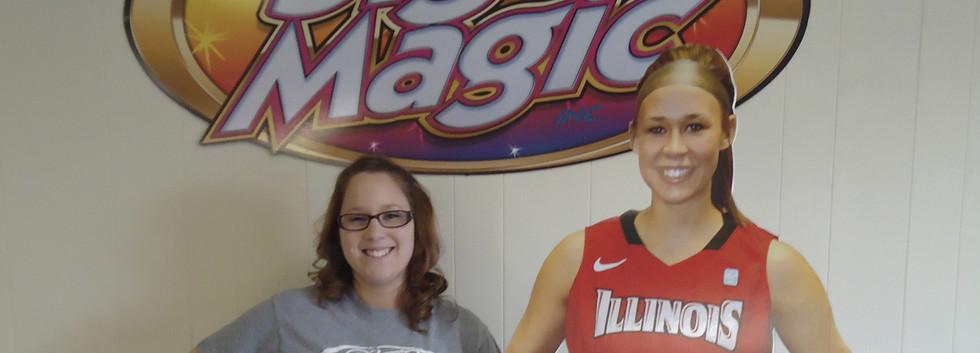 Amanda and foamboard standup girl basket