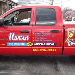 Hansen Plumbing truck