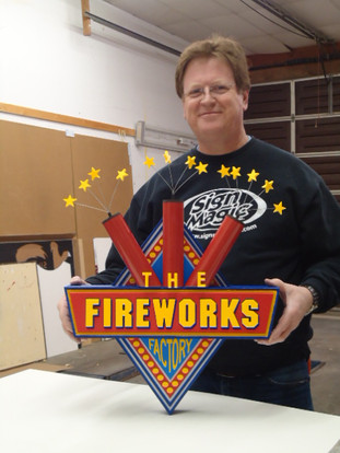 fireworks factory with Steve