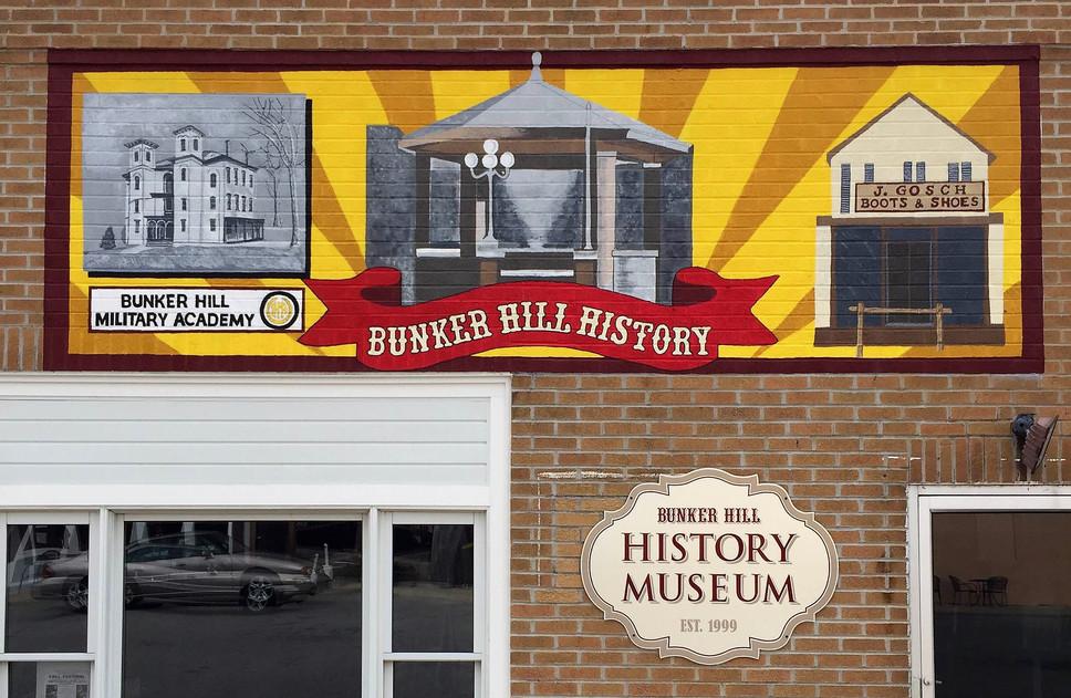 Bunker Hill History Museum mural